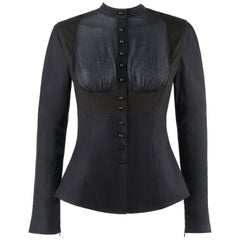 """ALEXANDER McQUEEN S/S 2005 """"It's Only A Game"""" Two Tone Button Down Harness Shirt"""