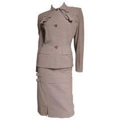 1940s Adrian Rare Hourglass Suit