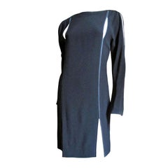 1990s Kriza Dress with Slits and Cold Shoulders