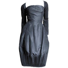 1950's Viola Silk Dress with Cartridge Pleating