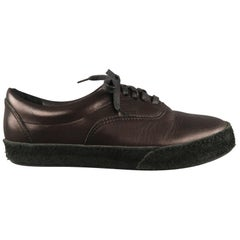 Men's HENDER SCHEME Size 9.5 Black Leather Lace Up Sneakers