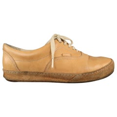 HENDER SCHEME Size 9.5 Tan Leather Lace Up Sneakers
