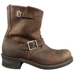 Men's FRYE Size 10 Brown Leather Biker Boots