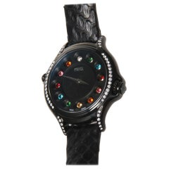 Fendi Crazy Karats Diamond and Topaz Watch - python band.