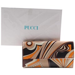 Signature Emilio Pucci Leather Wallet-Made In Italy