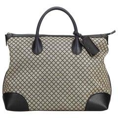 Gucci Brown Diamante Jacquard Travel Bag