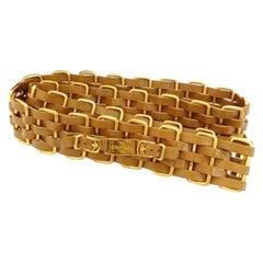 Chanel Brown X Gold 5 Layer Interlaced Chain 214583 Belt