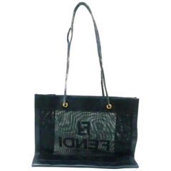 Fendi Ff Tote 228058 Black Mesh Shoulder Bag