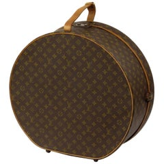 Louis Vuitton Monogram Boite Chapeau Hat Box 50 226925 Brown Coated Canvas Weeke