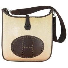 Hermès Evelyne Toile Ii 868833 Brown Canvas Messenger Bag