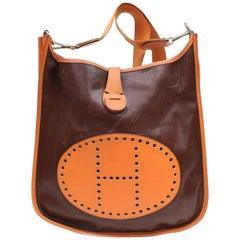 Hermès Evelyne Amazonia Bicolor 868722 Orange Leather Messenger Bag