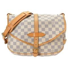 Louis Vuitton Saumur (Ultra Rare) Special Order  30 Pm 869156 White Messenger Ba