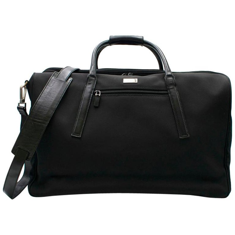 b5e66dded69 Gucci Black Canvas and Leather Trim Holdall For Sale at 1stdibs