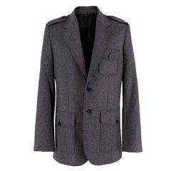 Balenciaga Men's Grey Wool Blazer EU 48