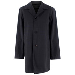 Prada Grey Wool Overcoat XL