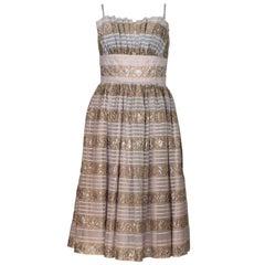 Vintage 1950s Victor Josselyn  Cocktail Dress