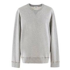 Valentino Rockstud-embellished cotton-blend sweatshirt L