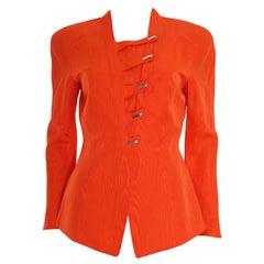Vintage Thierry Mugler Orange Structured Jacket