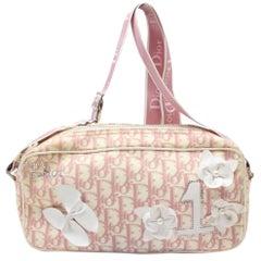 Dior Signature Oblique Monogram Trotter No 1 Camera 869222 Pink Shoulder Bag