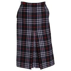 Vintage Burberry Blue Check Skirt