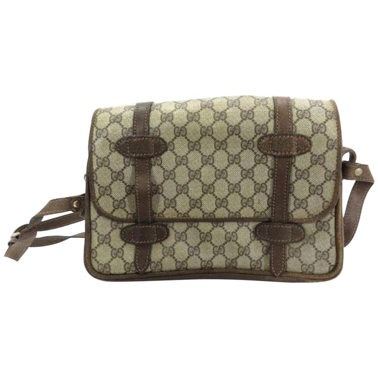 d10e8f7ebeed Gucci Gg Messenger 226793 Brown Supreme Canvas Shoulder Bag For Sale ...