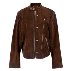 Golden Goose Brown Biker Jacket M