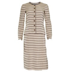 Vintage Chanel Haute Couture Skirt Suit, 1974