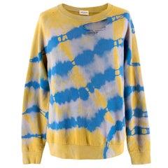 Saint Laurent Tie Die Distressed Sweater L