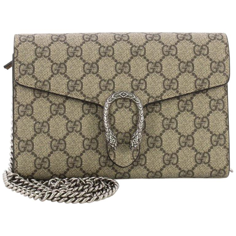 95ce4d4b9eb Gucci Dionysus Chain Wallet GG Coated Canvas Small at 1stdibs