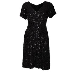 Vintage Jeanne Paquin Black Cocktail Dress