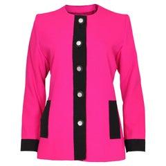 Vintage Yves Saint Laurent Pink and Black Jacket
