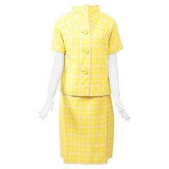 1960s Bill Blass Yellow Three-Piece Suit