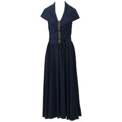 Kathryn Dianos Navy Maxi Dress