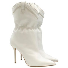 Malone Souliers Daisy 100 white leather ankle boots - Current Season US 9