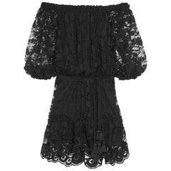 Chloé Off-The-Shoulder Lace Dress