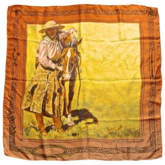 Large Square Rockmount Ranch Wear Pure Silk Girl's Best Friend Print Scarf