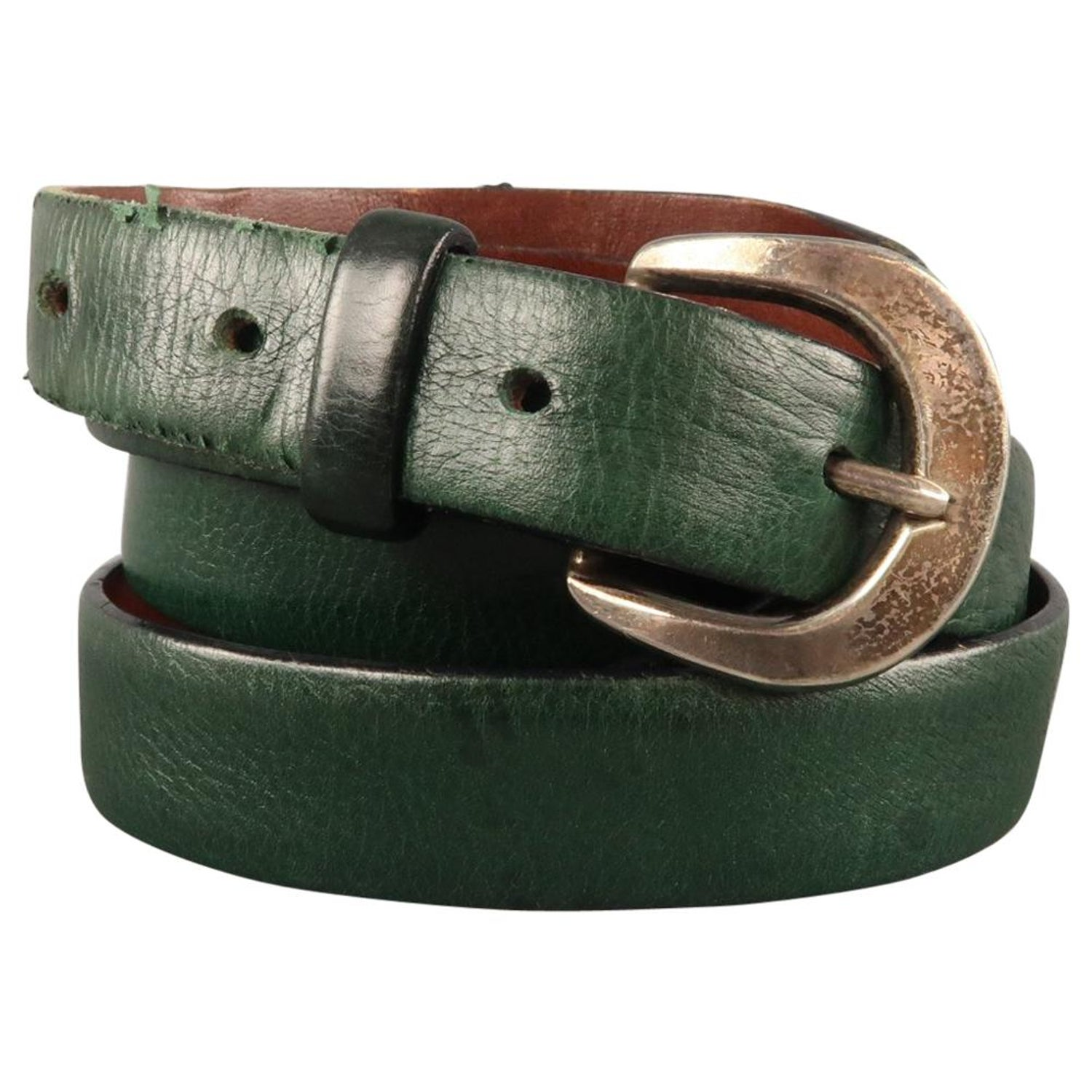 8a0e031b2 MARC JACOBS Size 36 Forest Green Leather Belt at 1stdibs