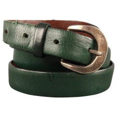 MARC JACOBS Size 36 Forest Green Leather Belt