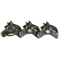 Victorian Mixed Metal Racing Horse Brooch
