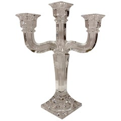 Versace Crystal Candelabra by Rosenthal 3 Branch Candle Holder