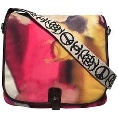 Chanel Flower Power Messenger Multicolor Nubuck Crossbody Shoulder Bag