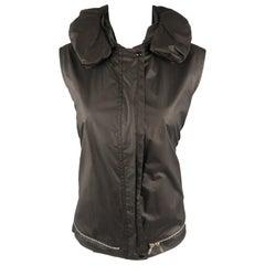 Vintage HELMUT LANG Size M Black Astro Pillow Neck Bondage Strap Vest