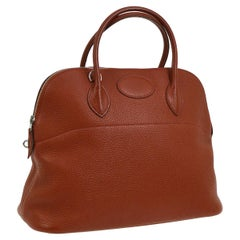 Hermes Leather Carryall Top Handle Satchel Tote Bag in Box