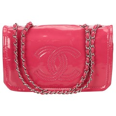 Chanel Pink Patent Leather Chain Shoulder Bag