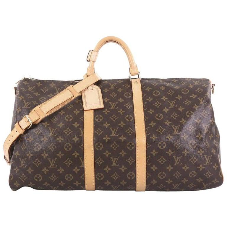 Louis Vuitton Keepall Bag Monogram Canvas 55 For Sale