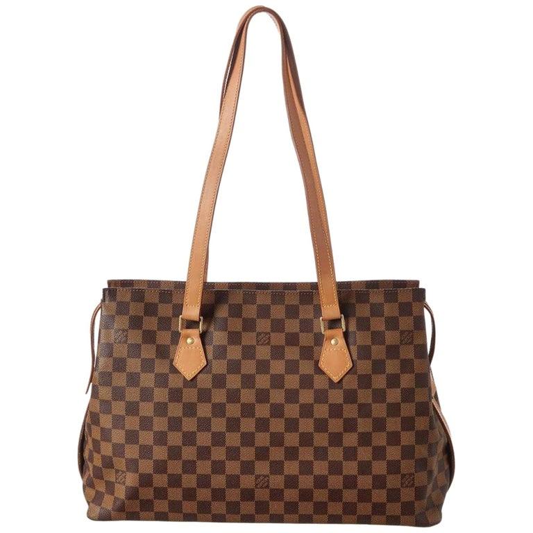 bcb61cf324490 Louis Vuitton Chelsea Damier Ebene Columbine Zip Tote 868869 Brown Shoulder  Bag For Sale