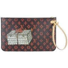 Louis Vuitton Neverfull Pochette  Limited Grace Coddington Catogram 2lz1212