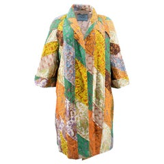 Prada Colourful Patchwork Print Coat US 0-.2