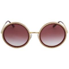 "Dolce & Gabbana Round ""Cuore Sacro"" Sunglasses"