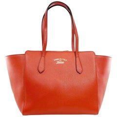 Gucci Swing 869592 Red Leather Tote